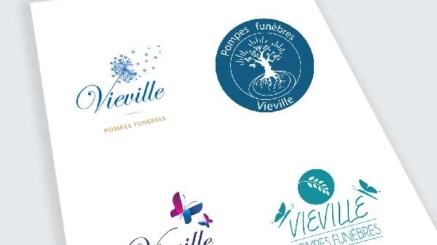 création logo pompes funèbres vieville