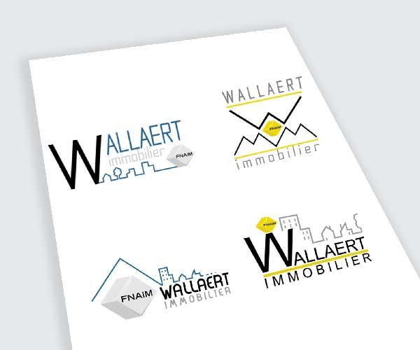 création logo immobilier wallaert