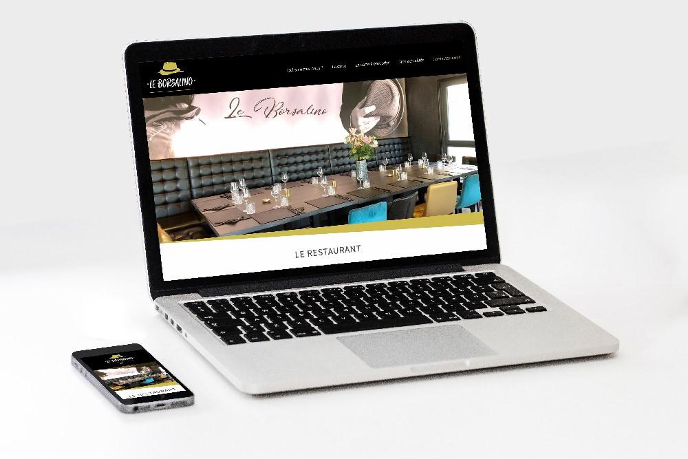 création site internet restaurant le borsalino